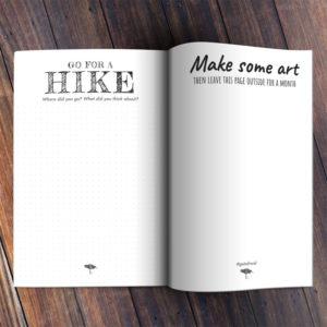 Get Afraid Journal Spread Hike Art
