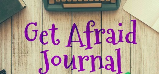 Get Afraid Journal Try It for the Story Typewriter Desk